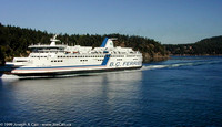 BC Ferries passing in Acive Pass