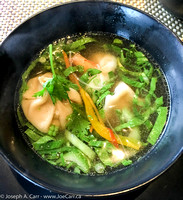 Jewels of the Sea soup - seafood in wontons