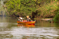 A local fisher on a tributary of the Kinabatangan  River.