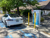 Charging at the Keremeos DCFC