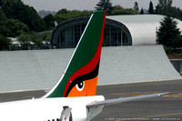 Zambian Airways Boeing 737-219 aircraft tail