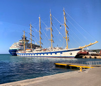 The Royal Clipper at the Montego Bay dock