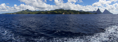 The St. Lucia coastline between Marigot Bay and Soufriere