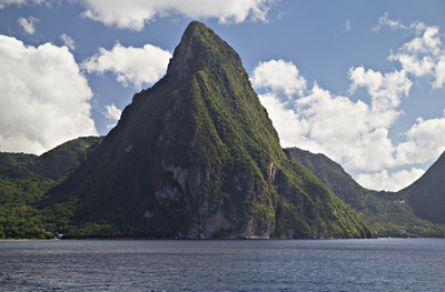 Gros Piton and the coastline