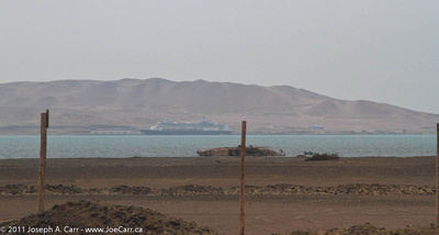 Rotterdam visible across Paracas Bay