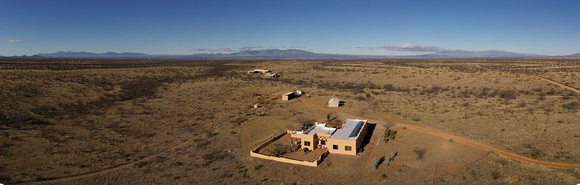 Aerial of Dragoon Ranch looking NW from Garry's place
