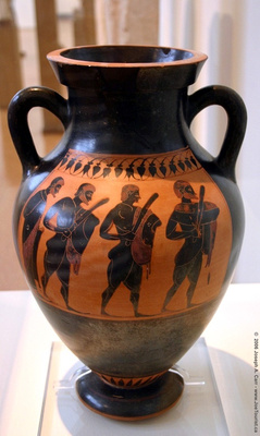 Vase with warriors