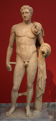 'The Atalante Hermes'. Funerary statue of a youth depicted in the form of the god Hermes