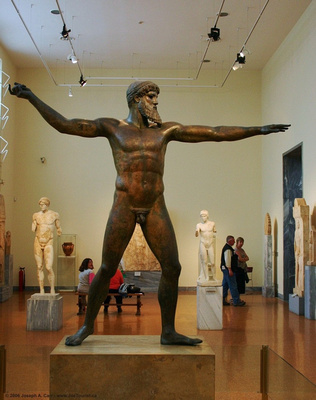Bronze statue of Zeus or Poseidon