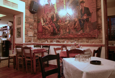 Interior of Xapas restaurant - Athens