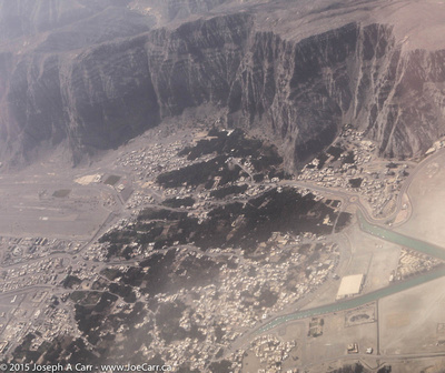 Khasab from the air