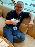 Joe with a Martini in the Crow's Nest Lounge