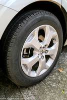 Rear passenger's side wheel and tire