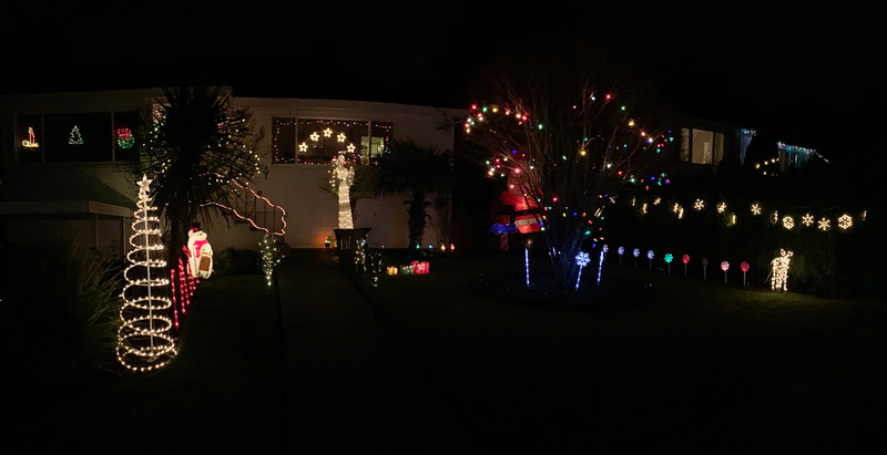 Christmas lights and outside decorations