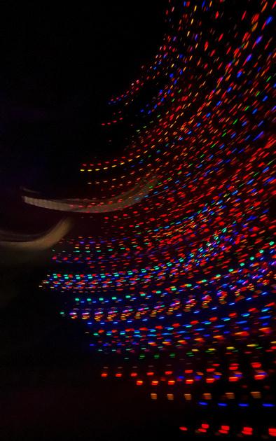 Smeared Christmas lights