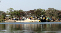 Crossing the Zambezi River between Kazungula and Kasane
