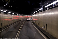 Driving through the Gotthard Tunnel