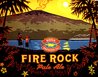 Fire Rock Pale Ale label