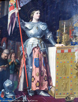 Painting: Ingres, Joan of Arc at the Coronation of Charles VII in Reims Cathedral