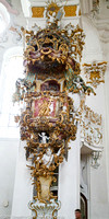 Roccoco decorated pulpit