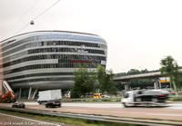 Back end of the Hilton Hotel at Frankfurt Airport