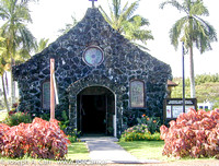 Old stone church at Kilauea