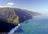 Flying over the Na Pali Coast - looking SW