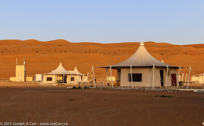 Desert Nights Camp at sunrise - Sharqiya Sands