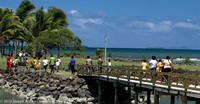 Fijian school children explore Left Foot Island
