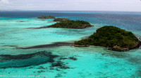 Tropical islets off the eastern coast Naviti  Island and coral reef