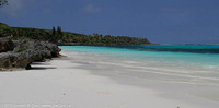 Beautiful white sand beach of Baie de Chateaubriand