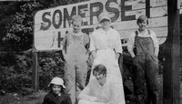 Somerset Hotel sign - Amy Valentine Carr on right