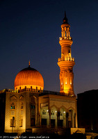 Al-Zawawi Mosque lit at night