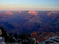 Grand Canyon sunrise - looking north from Mather Point as dawn develops