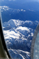 Snow-covered Coastal Mountains on approach to Vancouver