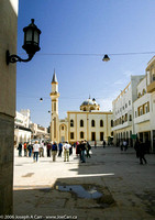 Square with Mosque & minaret tower