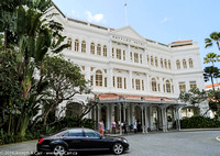 Famous front entrance to hotel