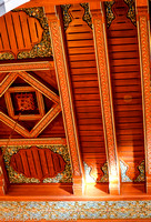 Detail in the wooden ceiling
