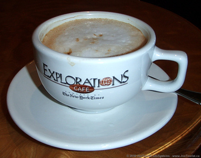 JoeTourist: Food &emdash; Cappuccino in Explorations Café