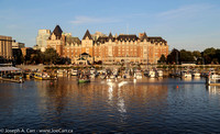 The Empress Hotel in Victoria's Inner Harbour