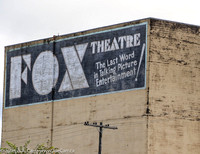 Sign: FOX Theatre - The Last Word in Talking Picture Entertainment!