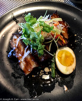 Taiwanese Braised Pork Belly with a soy-egg