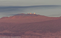 Sunrise over Maunakea with a Full Moon