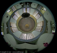 Fisheye view of the inside of the main dome in the men's prayer hall