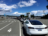 My Tesla Model S at the  Swartz Bay Ferry Terminal