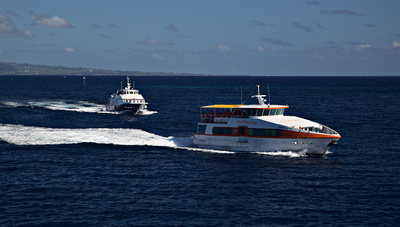 Inter-island ferries coming from Sint Martin