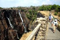 A foot bridge along the Victoria Falls trail