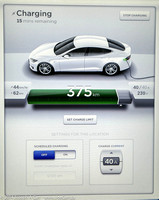 Charging status screen display
