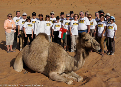 Oman & UAE group photo at Sharqiya Sands