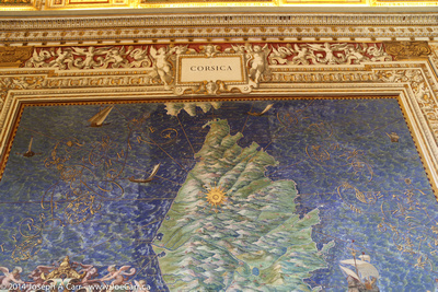 Large-scale fresco map of Corsica - Gallery of Maps - Vatican Museum